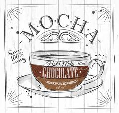 Poster mocha Stock Illustration