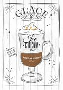 Poster glace Stock Illustration