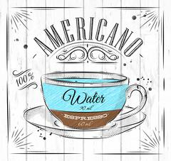 Poster americano - stock illustration