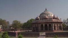 Isa Khan's Tomb Yard 4K Stock Footage