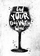 Poster wine Stock Illustration