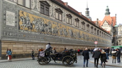 Historical center of Dresden Stock Footage