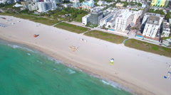 Clean beaches Miami Beach Stock Footage