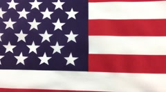 American USA Star and Stripes Flag, zooming and rotation, handheld. - stock footage