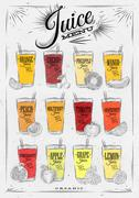 Poster juice menu Stock Illustration