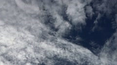 Cloud formation in early morning sky, panning and rotating, handheld. Stock Footage