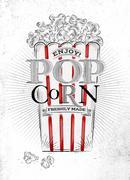 Poster popcorn Stock Illustration