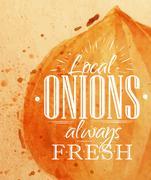 Poster onion Stock Illustration