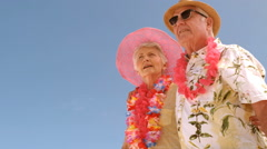 A mature couple is looking something Stock Footage
