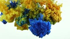 Art Ink Liquid Paint Splash in Underwater - stock footage