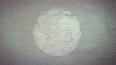 Retro Globe TV Static grunge - stock footage