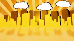 Retro City Golden - stock footage