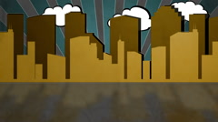 Retro City version one - stock footage