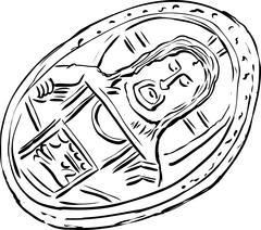 Old Byzantine Histamenon Coin - stock illustration