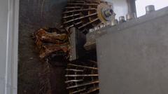 Metal Scrap Recycle Machine - stock footage