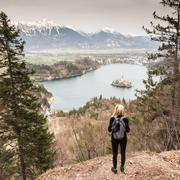 Beautiful nature around Bled Lake, Slovenia. Stock Photos