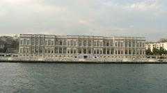 Historic building on the banks of the Bosphorus Strait. Istanbul, Turkey Stock Footage