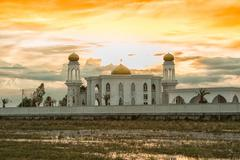 Great mosque for the religion of islam ,Thailand Stock Photos