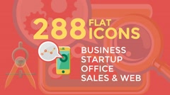 Business & Startup Flat Icons Stock After Effects