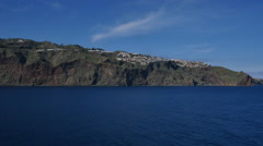 Madeira island passing sea cliffs Stock Footage