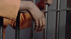 Racism in America - Young African American Men Jailed disproportionately - stock footage