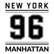 T shirt typography graphic New York city Manhattan - stock illustration