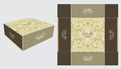 Elegant Foral Square Cake Box - stock illustration