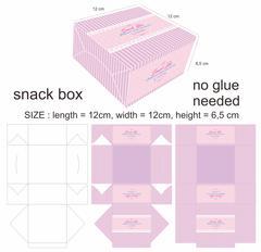 Pink Minimalist Snack Box - stock illustration