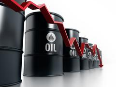 Oil prices falling down Stock Illustration