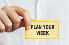 Plan Your Week Stock Photos