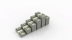 Increasing money - stock footage