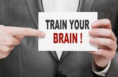 Train Your Brain - stock photo