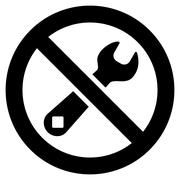 Restricted Repair Flat Vector Icon - stock illustration