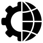 International Manufacture Flat Vector Icon Stock Illustration