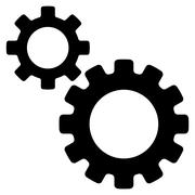 Transmission Gears Flat Vector Icon Stock Illustration