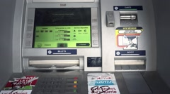 ATM Bank Machine Close Up, France Stock Footage