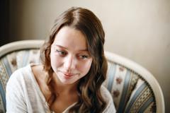 Cute Young Female Headshot Stock Photos