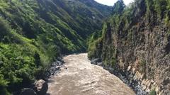 Canyon of Pastaza River near Banos in Ecuador Stock Footage