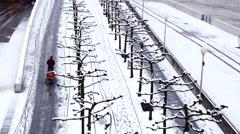 Winter in Duesseldorf Stock Footage