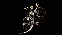 Elegant Flourish decorative element - stock footage
