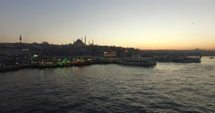 Golden Horn Bay Stock Footage