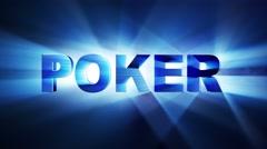 Poker Text Animation, Loop, 4k Stock Footage