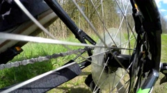 Detail view on a gear system of a mountain bike. Stock Footage