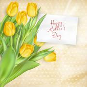 Happy Mothers Day lettering. EPS 10 - stock illustration