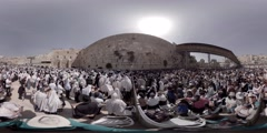 Thousands of Jews practice the Priestly Blessing   Stock Footage