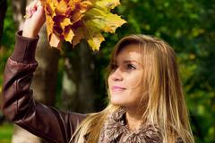 Automn woman Stock Photos