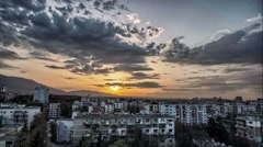 Urban timelapse hdr at sunset Stock Footage