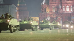 Night rehearsal celebration of the 71th anniversary of the Victory Day in Moscow - stock footage
