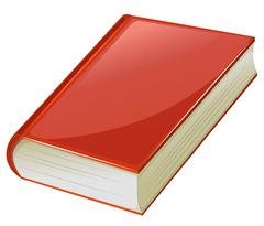 Textbook with red covers Stock Illustration