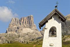Bell tower in the mountains Stock Photos